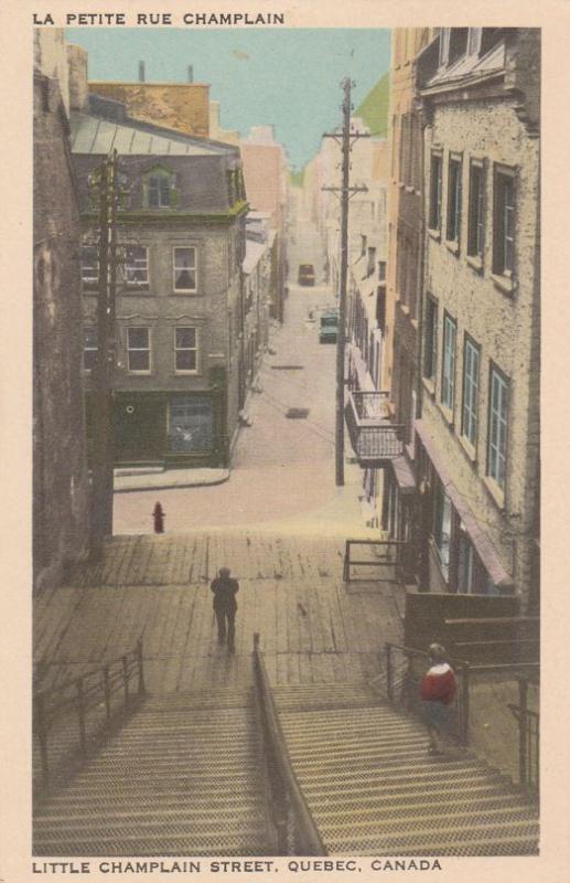 Little Champlain Street - Quebec QC, Quebec, Canada - WB