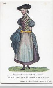 Wales; Lady Llanover, No 7 Welsh Girl In Costume of Part Of Gwent PPC, Unposted