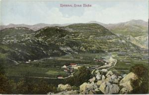 montenegro, CETINJE, Panorama (1910s)