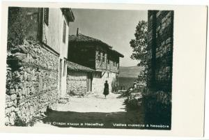 Bulgaria, Vieilles maisons a Nessebre, unused real photo Postcard