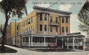 LP81 Martinsville  Indiana Postcard Colonial Sanitarium