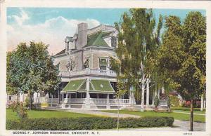 George F. Johnson Residence, Endicott, New York, PU-1929