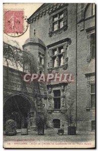 Old Postcard Toulouse Court of L & # 39Hotel De Lasbordes or old grape