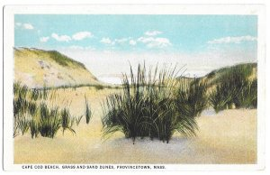 Cape Cod Beach, Grass and Sand Dunes, Provincetown, Massachusetts, American Art