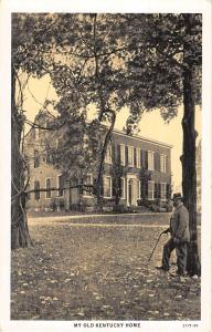 Bardstown Kentucky My Old Home Historic House Antique Postcard K12366