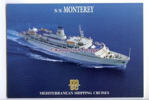 LN0675 - MSC Liner - Monterey , built 1952 - postcard