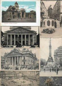 HUGE Belgium Brussels 160+ Postcards Lot Great Mix Antique Cards 01.12