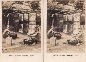Batik Cloth Making Java Malaysia 2x Old Cigarette Card s