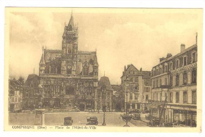 Place De l'Hotel-de-Ville, Compiegne (Oise), France, 1910-1920s