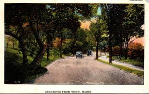 Maine Greetings From Winn 1927