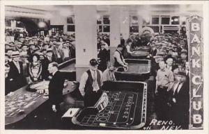 Nevada Reno Bank Club Casino 1948 Real Photo RPPC