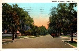 Florida Arcadia Magnolia Avenue 1929 Curteich