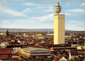 Germany Frankfurt am Main Henninger-Turm und Stadtpanorama 1962
