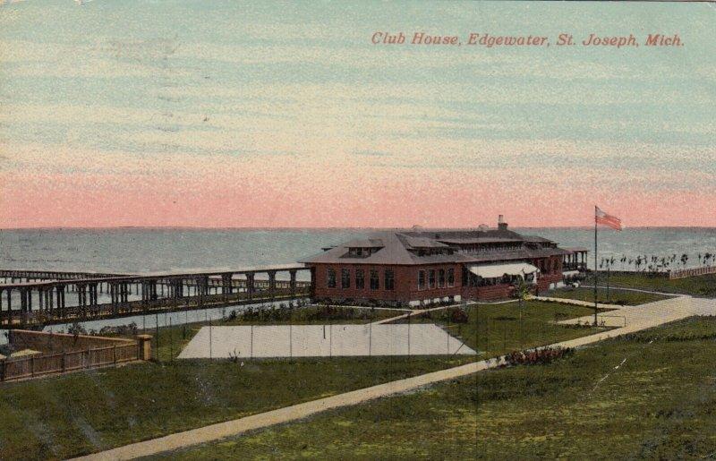 ST JOSEPH , Michigan, 1913 ; Club house , Edgewater
