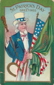ST. PATRICK'S DAY , 1910 ; Uncle Sam