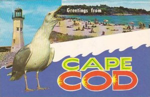 Greetings From Cape Cod Sea Gull Lighthouse