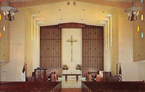Palm Springs California Community Church Front Of Sanctuary Postcard K88795