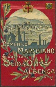 Lib947 - CARTOLINA d'Epoca - PUBBLICITARIA Illustrata: Olio MARCHIANO Albenga SV