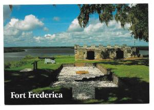 GA St Simons Island Georgia Fort Frederica Vtg Postcard 4X6