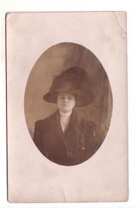 Real Photo, Woman Wearing Large Hat, Martha Nash,m