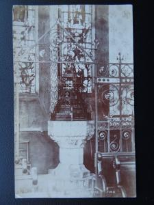 FOLKESTONE CHURCH The Baptistry Font c1908 RP Postcard by Wheeler & Haddock