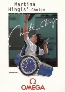 Martina Hingis Choice Of Watch Facimile Signed Tennis Rare Postcard