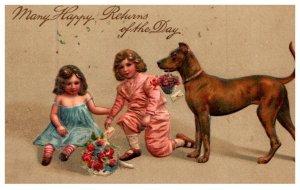 Dog , Victorian Girls