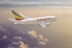 Ethiopian Boeing 737-700 Jet Airplane , 70-90s