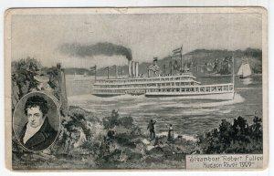 Steamboat Robert Fulton Hudson River, 1909