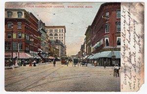 Worcester, Mass, Main Street, From Harrington Corner