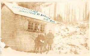 Bunker Hill Oregon Homestead Hunters Real Photo Antique Postcard K32865