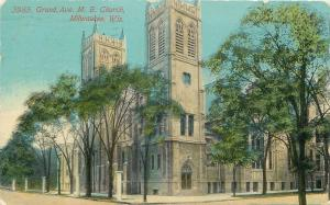 Milwaukee Wisconsin~Grand Ave Methodist Episcopal Church~1910 PC