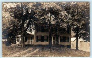 RPPC  SALISBURY, Connecticut CT ~ Annex WHITE HART INN ca 1920s  Postcard