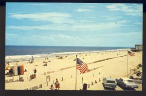 Fenwick Island, Delaware/DE Postcard, View Of Beach, Ocean & Beach Goers