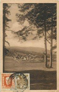 Czech Republic Pec pod Cerchovem TCV stamps vintage postcard