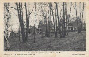 CAPE ELIZABETH , Maine, 1901-07 ; Officers' Quarters, Fort Williams