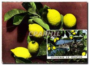 Postcard Modern Riviera Remembrance Menton