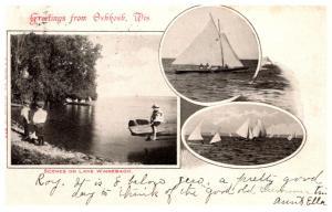 Wisconsin   Oshkosh , Lake Winnebago , Multi-view