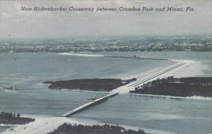 Florida New Rickenbacker Causeway Between Crandon Park and Miami