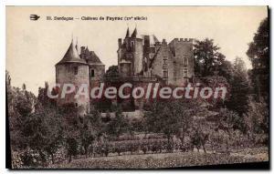 Postcard Old Dordogne Chateau De Fayrac