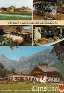 Gustaav Scandanavian Restaurants Christina Diner 2x Swiss Tirol Postcard s