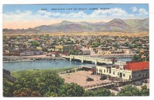 Bird's-Eye View Of Ciudad Juarez, Bridge, Mexico, 1930-1940s
