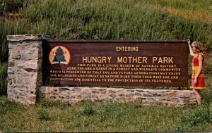 Virginia Marion Entering Hungry Mother State Park Welcome Sign