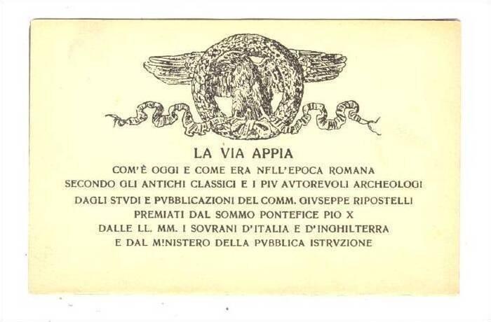 Bifold postcard; Cappalla Domine Qvo Vadis? incontro del Salvatore con S. P...