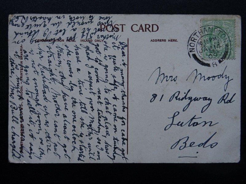 Northampton MARKET SQUARE & MARKET DAY c1909 Postcard by G.D.& D.