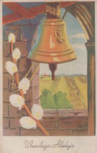 Bell Ringers Ringing Poland Wesoego Alleluja Vintage Polish Postcard
