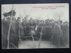 Vésuve Eruzione Del Vesuvio Duc Prof' Aosta & Maire de Boscotrecase 1906 Rare Pc