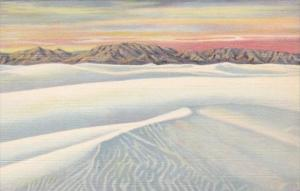 New Mexico Alamogordo The Ripples Great White Sands National Monument Curteich