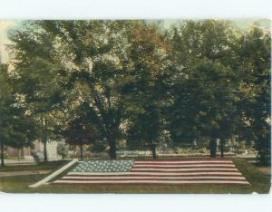 Divided-Back FLORAL FLAG AT WATERWORKS PARK Detroit Michigan MI E6643