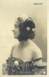 Miss Williams Foreign Film Stars Old Vintage Antique Postcard Post Card  Miss...